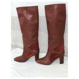 Chloé-Boots-Dark red