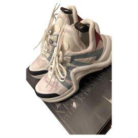 Louis Vuitton-Louis Vuitton Archlight Sneakers-Pink,White,Navy blue,Light blue