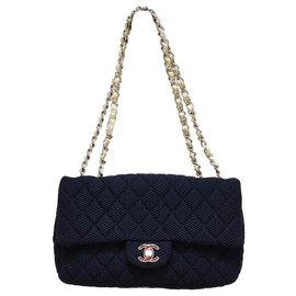 Chanel-Timeless Chanel in canvas-Black
