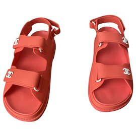 Chanel-Dad Sandals-Coral