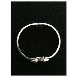 Hermès-Bracelet Hermès, modèle Clic Clac-Bijouterie argentée