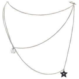 Dior-Dior Silver Silver-tone Necklace-Silvery