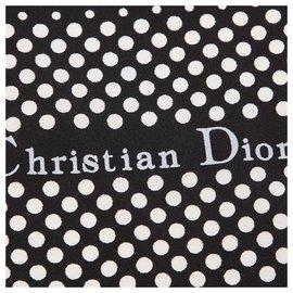 Dior-Foulard en soie imprimée blanche Dior-Blanc,Multicolore