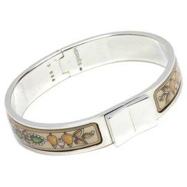 Hermès-Bracelet en émail Loquet en argent Hermès-Argenté