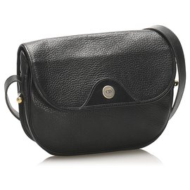 Dior-Dior Black Leather Crossbody Bag-Black