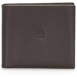 Loewe-Loewe Brown Anagram Leather Small Wallet-Brown,Dark brown