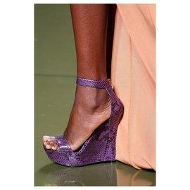 Balmain-Balmain Samara  sandals in purple python-Purple