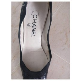 Chanel-Chanel used shoes-Black