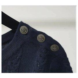 Chanel-Chanel CC Logo Buttons Top  Sz S 36-Black