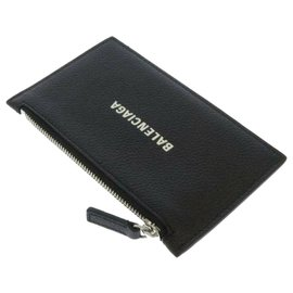 Balenciaga-Balenciaga Black Everyday Leather Pouch-Black