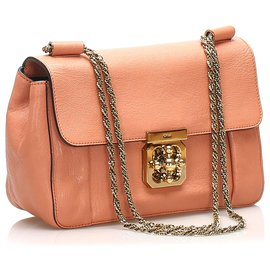 Chloé-Chloe Pink Elsie Leather Crossbody Bag-Pink