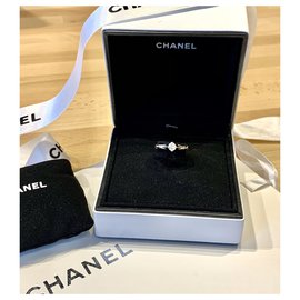 Chanel-Chanel diamond ring matelassé line-Silvery