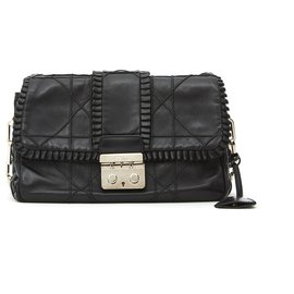 Dior-NEW LOOK RUFFLE BLACK-Black,Silver hardware