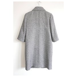 Chanel-SS16 Tweed Coat-Black