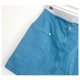 Chanel-SS17 Denim skirt-Blue