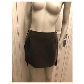 Gaspard Yurkievich-Asymmetric khaki skirt-Khaki