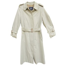 Burberry-womens Burberry vintage t trench coat 38-Eggshell