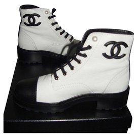 Chanel-Boots-White