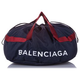 Balenciaga-Balenciaga Black S Wheel Everyday Nylon Travel Bag-Black,Blue,Navy blue