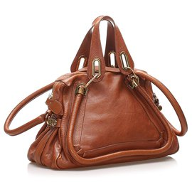 Chloé-Chloe Brown Paraty Leather Satchel-Brown