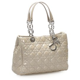 Dior-Dior Gray Cannage Soft Shopper Tote-Grey
