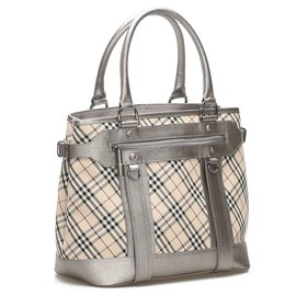 Burberry-Burberry Brown Nova Check Canvas Tote Bag-Brown,Multiple colors,Beige