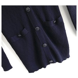 Chanel-SS17 Cardigan-Navy blue