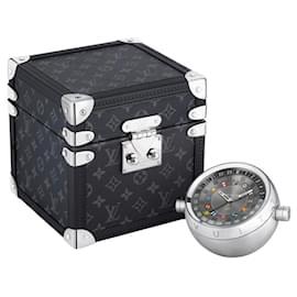 Louis Vuitton-LV Trunk table clock-Grey