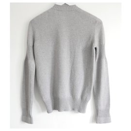 Chanel-Twist Lock Sweater-Grey