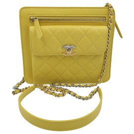 Chanel-Wallet-Yellow