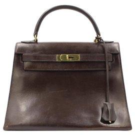 Hermès-hermes kelly 1990-Brown