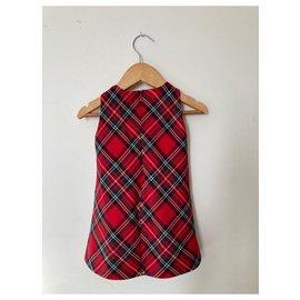 Monnalisa-Little girl dress-Red