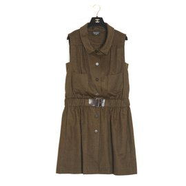 Chanel-BROWN CASHMERE ENSEMBLE FR42-Brown