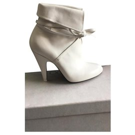 Tom Ford-NAPPA LEATHER WRAP BOOTIE-White