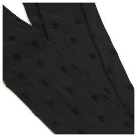 Chanel-TIGHTS BLACK CC DOTTED SWISS M NEW-Black