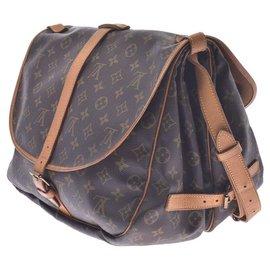 Louis Vuitton-Louis Vuitton Saumur 35-Brown