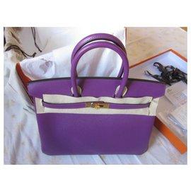 Hermès-Bikin 35 Epsom Anemone-Purple