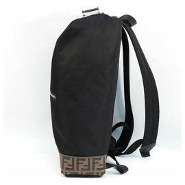 Fendi-FENDI Zucca Mens ruck sack Daypack 7VZ044 A4ND F147M black-Black