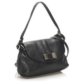 Chloé-Chloe Black Lily Leather Satchel-Black