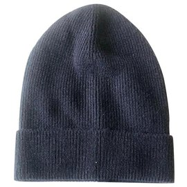 Prada-PRADA NEW CASHMERE HAT-Navy blue