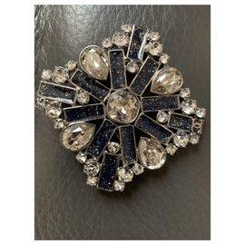 Chanel-Chanel crystal brooches-Dark blue