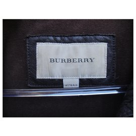 Burberry-Burberry leather jacket size 36/38-Dark brown