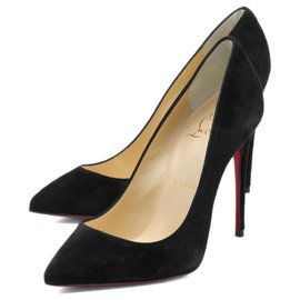 Christian Louboutin-Christian Louboutin Shoes Ladies 1170340 BK01 Pointed Toe Pumps PIGALLE FOLLIES-Black