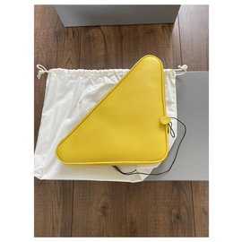 Balenciaga-Balenciaga Triangle clutch pouch-Yellow