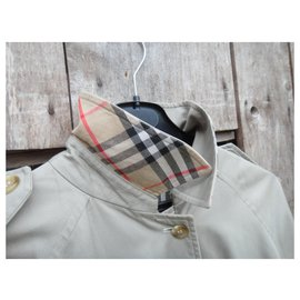Burberry-womens Burberry vintage t trench coat 42 Oversized cut-Beige
