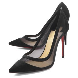 Christian Louboutin-Christian Louboutin Shoes Ladies 1200557 cm47 Pointed Toe Pumps GALATIVI VERSION-Black