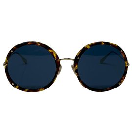 Dior-dior sunglasses logo DIOR HYPNOTIC 1 Y67A9 YELLOW HAVANA AND GOLD-Brown,Golden