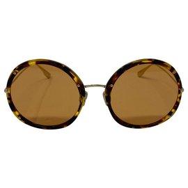 Dior-lunettes de soleil dior occhiali da sole logo DIOR HYPNOTIC 1-Marron,Orange