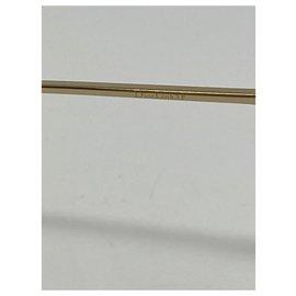 Dior-lunettes de soleil DIOR LINK 3F 08670 Couleur du cadre Havane foncé et or-Marron,Bijouterie dorée