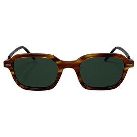Dior-Dior TECHNICITY 1 Light Havana/green sunglasses-Brown,Black
